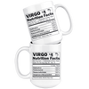 White 15oz Mug - Virgo Zodiac Nutrition