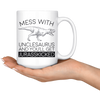 White 15oz Mug - Unclesaurus Jurasskicked