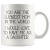 White 11oz Mug - Luckiest Mom In The World