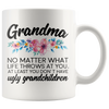 White 11oz Mug - Grandma Ugly Grandchildren
