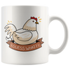 White 11oz Mug - Chicken Butt
