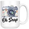 White 15oz Mug - Photography Oh Snap