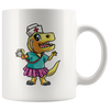 White 11oz Mug - Nursesaurus Rex
