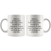 White 11oz Mug - Hate Etah