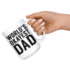 White 15oz Mug - World's Okayest Dad
