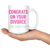White Mugs - Congrats On Your Divorce