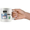 White 11oz Mug - Floppy USB Father