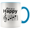 Music Happy Face Accent Mugs