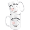 White 15oz Mug - Bah Haba Bar Harbor Maine