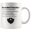 White 11oz Mug - Bearded Teacher Mug