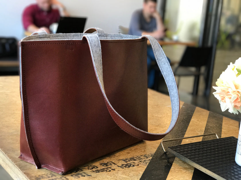 Verboten Leather Felt Tote