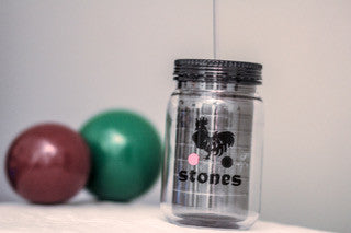 18 oz Stones Acrylic Tumbler w/ Lid and Straw