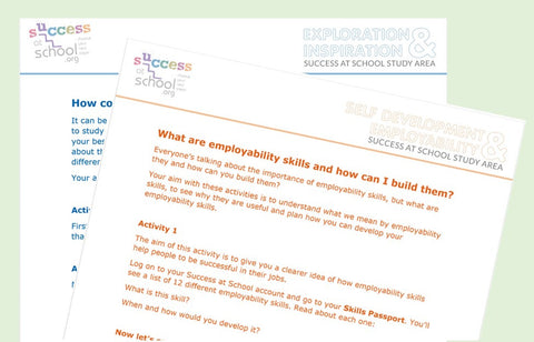Free Careers Worksheets - for homework or tutor time