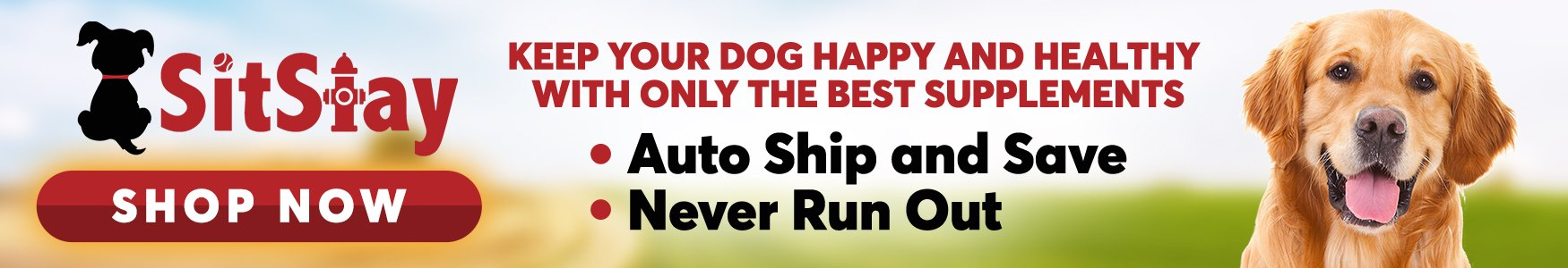 SitStay AutoShip and Save, Never Run out