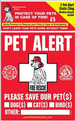 SitStay Pet Alert Fire & Rescue Decal