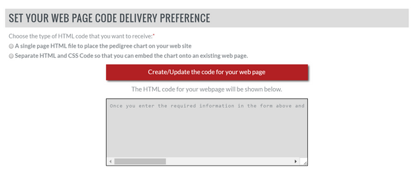 set your web page code delivery preference sitstay pedigree builder online