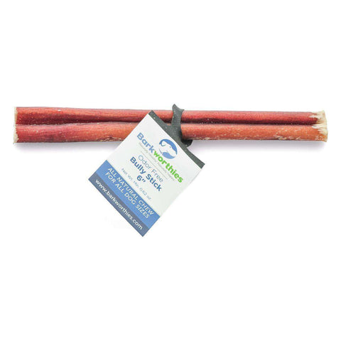 "Barkworthies Natural Odor Free Bully Stick - 6"" - SitStay - 1"