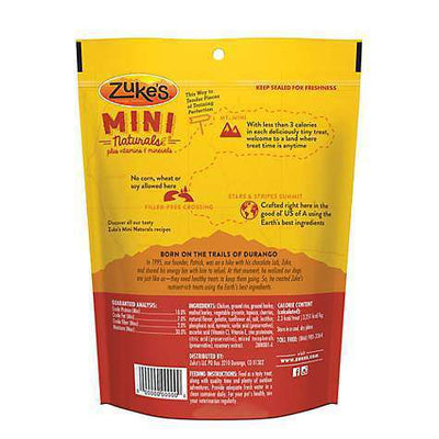 Zuke's Mini Naturals Chicken Recipe Dog Treats