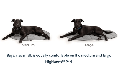 highlands sleeping pad size help