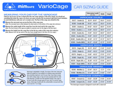 Variocage Size guide