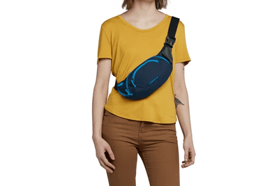 hip pack blue moon worn across chest