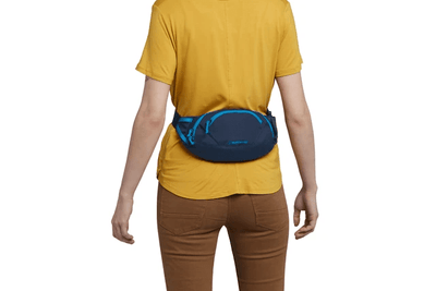 hip pack blue moon worn on the front