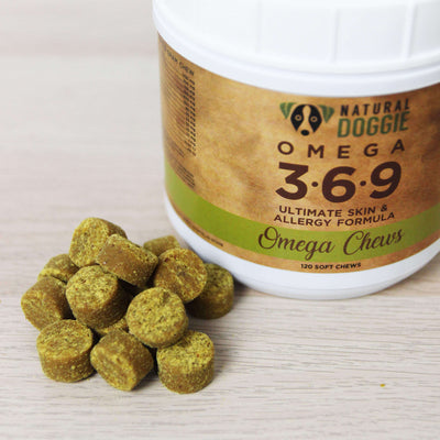 Natural Doggie Omega 3-6-9 Chews Ultimate Skin and Allergy Formula