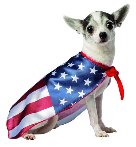 Rasta Imposta - USA Flag Cape Dog Costume