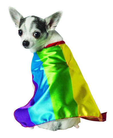 Rasta Imposta - Rainbow Flag Cape Dog Costume