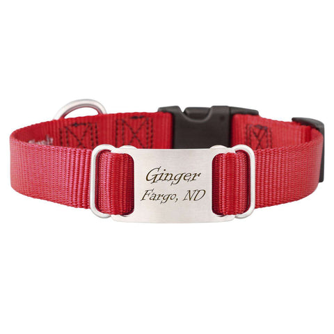 "dogIDs 5/8"" x 8-10"" Nylon ScruffTag Personalized Dog Collars - SitStay - 14"