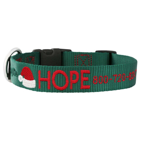 dogIDs Custom Embroidered Christmas Dog Collar