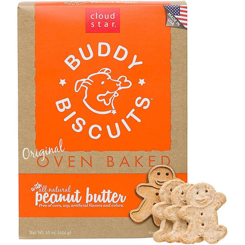 Cloud Star Buddy Biscuits with all Natural Peanut Butter, Oven Baked - SitStay