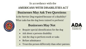 photo regarding Printable Ada Service Dog Card known as Assistance Pet dog Definition ADA Legislation 25 Playing cards - SitStay