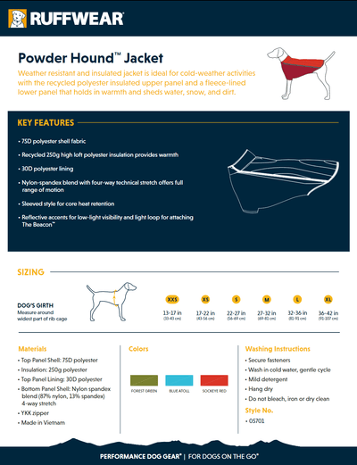 powder hound product sheet