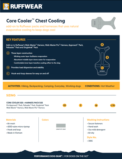 Core cooler product sheet