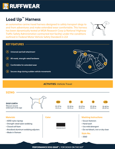 Load Up Harness Product Sheet