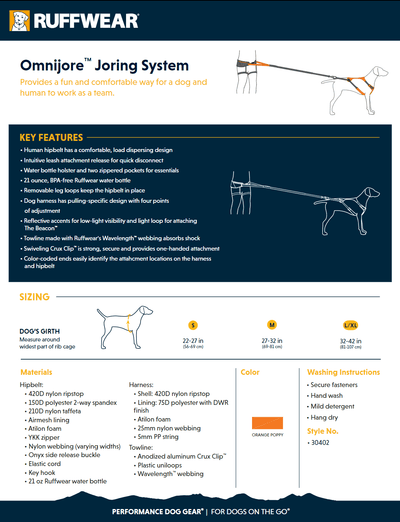 Omnijore Joring System product sheet
