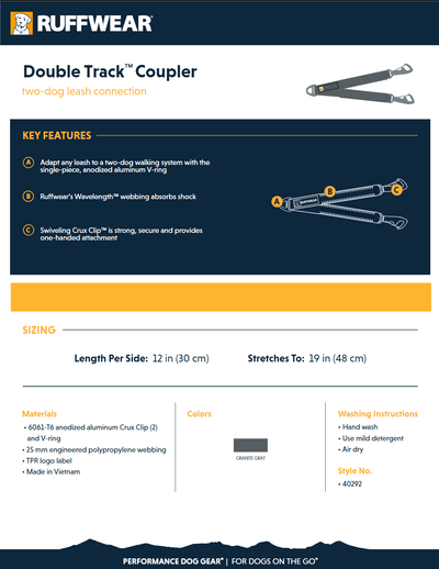Double Track coupler product sheet