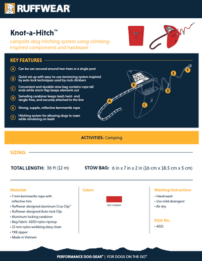 Knot-a-Hitch product sheet