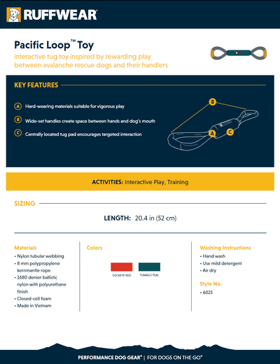 pacific loop toy product sheet