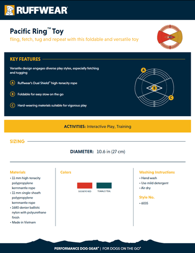 pacific ring product sheet