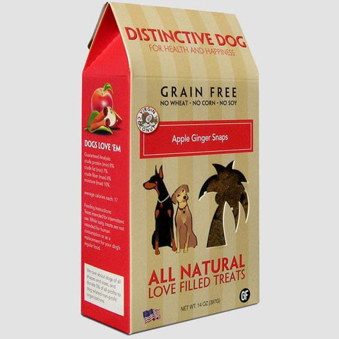 Distinctive Dog Treats - Grain Free Apple Ginger Snap