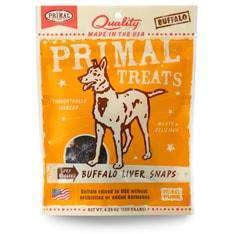 Primal Pet Foods - Dry Roasted Buffalo Liver Snaps Treats - SitStay