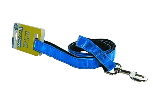 blue petnv reflective dog leash