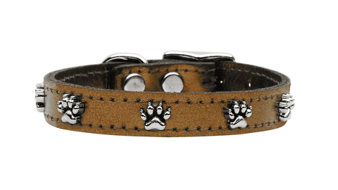 Metallic Brown Paw Collar