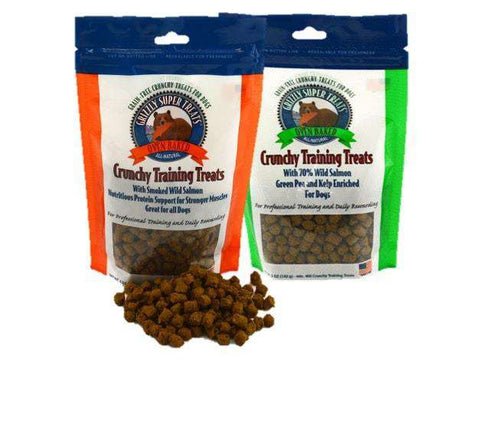 Grizzly Wild Alaskan, Smoked Salmon, Crunchy Training Treats (Gluten Free!) - SitStay - 1