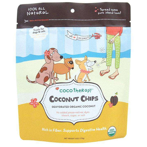 CocoTherapy Organic Coconut Chips, 6 oz - SitStay