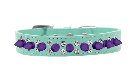 Aqua Collar w/ Purple Spikes