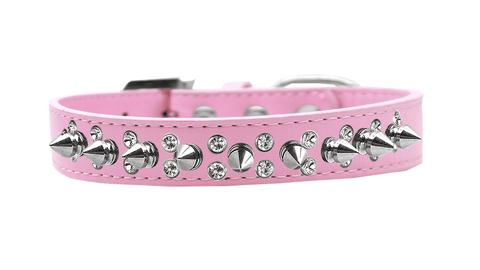 Pink Collar w/ Silver Spikes - SitStay
