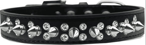 Black Collar w/ Silver Spikes